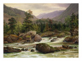 Norwegian Waterfall, 1840 Giclee Print by Thomas Fearnley