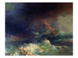 The Disaster of the Liner Ingermanland at Skagerrake Near Norway on August 30Th, 1842 Giclee Print by Ivan Konstantinovich Aivazovsky
