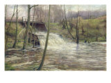 A Mill Stream Giclee Print by Karl Oderich