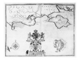 Map No.7 showing the route of the Armada fleet, engraved by Augustine Ryther, 1588 Giclee Print by Robert Adams