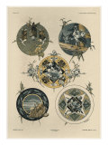 Circles, from 'Fantaisies Decoratives', engraved by Gillot, Librairie de l'Art, Paris, 1887 Giclee Print by Jules Auguste Habert-dys