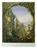 The Trellis Window, Trentham Hall Gardens, from 'Gardens of England', published 1857 Giclee Print by E. Adveno Brooke