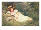 The Little Shepherdess Giclee Print by Arthur Dampier May