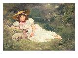 The Little Shepherdess Giclee Print by Arthur Dampier May