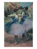 Dancers in Violet Giclee Print by Edgar Degas