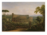 View of the Colosseum from the Palatine Hill, Rome, 1816 Giclee Print by Fedor Mikhailovich Matveev