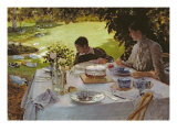 Breakfast in the Garden, 1883 Reproduction procédé giclée par Giuseppe Nittis