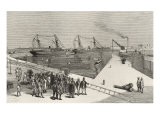 Visit of Viceroy of India to the Sassoon Dock at Bombay, from 'The Illustrated London News' Giclee Print by  English School