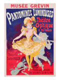 Poster Advertising 'Pantomimes Lumineuses, Theatre Optique de E. Reynaud' at the Musee Grevin, 1892 Giclee Print by Jules Chéret