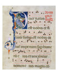 Page with Historiated Initial 'P' Depicting the Nativity, from a Gradual from the Monastery of San  Giclée-tryk af Cimabue