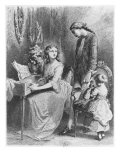 Illustration from 'The Sorrows of Werther' by Johann Wolfgang Goethe Reproduction procédé giclée par Tony Johannot