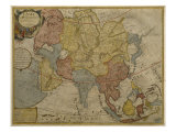 Map of Asia, Published in 1700, Paris Reproduction proc&#233;d&#233; gicl&#233;e par Guillaume Delisle