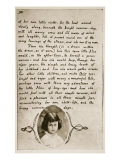Alice Liddell on the Last Page of 'Alice's Adventures Underground', 1859 Giclee Print by Charles Lutwidge Dodgson