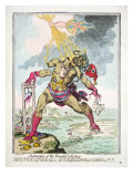 &#39;Destruction of the French Colossus&#39;, 1798 Giclee Print by James Gillray