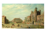 St. James's Palace and Pall Mall, c.1760 Giclee Print by William James
