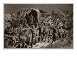 Night Attack on Boer Convoy by Mounted Infantry, after Drawing by British Officer Giclee Print by John Charlton