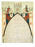 A Lookout Gives the Alarm, illustration from the Jewish Cervera Bible, 1299 Giclee Print by Joseph Asarfati