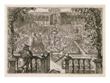Spring Garden, from 'Hortus Floridus', published 1614-15 Giclee Print by Crispin I De Passe