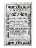 Poster Advertising Cruft's Dog Show at the Royal Agricultural Hall in Islington, London in 1891 Giclee Print