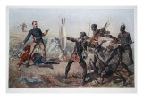Lieutenants Melvill and Coghill Giclee Print by Charles Edwin Fripp