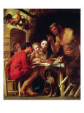 The Peasants and the Satyr Giclee Print by Jacob Jordaens