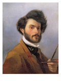 Self Portrait, 1854 Giclee Print by Giovanni Fattori