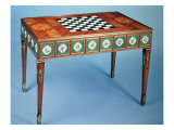 Sevres Games Table with Porcelain Plaques Inset, 1775 Giclee Print by Martin Carlin