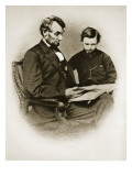 Lincoln and Tad, 1864 Giclee Print by Anthony Berger