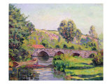 The Bridge at Boigneville, c.1894 Giclee Print by  Jean Baptiste Armand Guillaumin