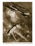 Lieut. Brandon Attacking One of the Zeppelin Raiders on March 31St, 1916, 1914-19 Giclee Print