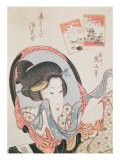 Woman at her Mirror, published c.1830 Giclee Print by Kikugawa Toshinobu Eizan