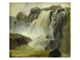 Haugfoss in Norway, 1827 Giclee Print by Christian Ernst Bernhard Morgenstern