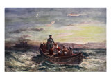 The Escape of Mary Queen of Scots from Loch Leven Castle Giclee Print by Francis Danby