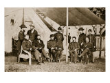 Generals Grant, Badeau, Rawlins, Comstock and Porter, and Colonels Duff, Dent, Robinett and Parker Giclee Print by Mathew Brady & Studio