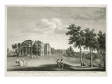 View of House and Part of Garden at West Wycombe, Buckinghamshire, engraved by William Woollett Giclee Print by William Hannan