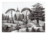 The Labyrinth from the Jardin des Plantes, Paris, engraved by Francois Aubertin Giclee Print by Nicolas Huet the Younger