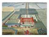 Grimsthorp in the County of Lincoln engraved by Johannes Kip Giclee Print by Leonard Knyff