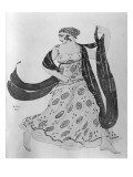 Costume Design for 'Cleopatra', 1910 Giclee Print by Leon Bakst