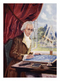 William Herschel at Work at Observatory House, Slough Giclee Print by John Cameron