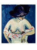 Half-Naked Woman with a Hat, 1911 Giclee Print by Ernst Ludwig Kirchner