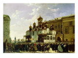 Easter Procession at the Maria Annunciation Cathedral in Moscow, 1860 Giclee Print by Karl-Fridrikh Petrovich Bodri
