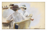 Two Ladies by the Water Reproduction procédé giclée par Max Liebermann