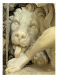 A Lion Licking the foot of Daniel Giclee Print by Giovanni Lorenzo Bernini