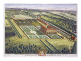 Hamstead Marshall in the county of Berkshire engraved by Johannes Kip Giclee Print by Leonard Knyff