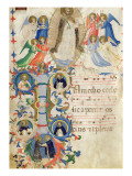 Depicting St. Dominic and an Historiated Initial 'I' from a Gradual Book from San Marco e Cenacoli Giclee Print by  Fra Angelico