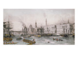 The Port of London Giclee Print by Thomas Allom