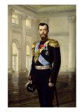 Portrait of Emperor Nicholas II, 1900 Giclee Print by Baron Ernest Friedrich Von Liphart