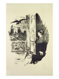 Illustration for 'The Raven', by Edgar Allen Poe, 1875 Giclee Print by Édouard Manet