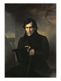 Portrait of the Russian author Nestor Kukolnik Giclee Print by Aleksandr Pavlovich Bryullov