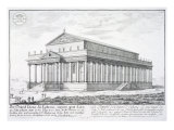 The Temple of Diana at Ephesus, Turkey, from 'Entwurf einer historischen Architektur', 1721 Giclee Print by Johann Bernhard Fischer Von Erlach